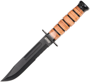 Coleman Stacked Leather Handle Knife