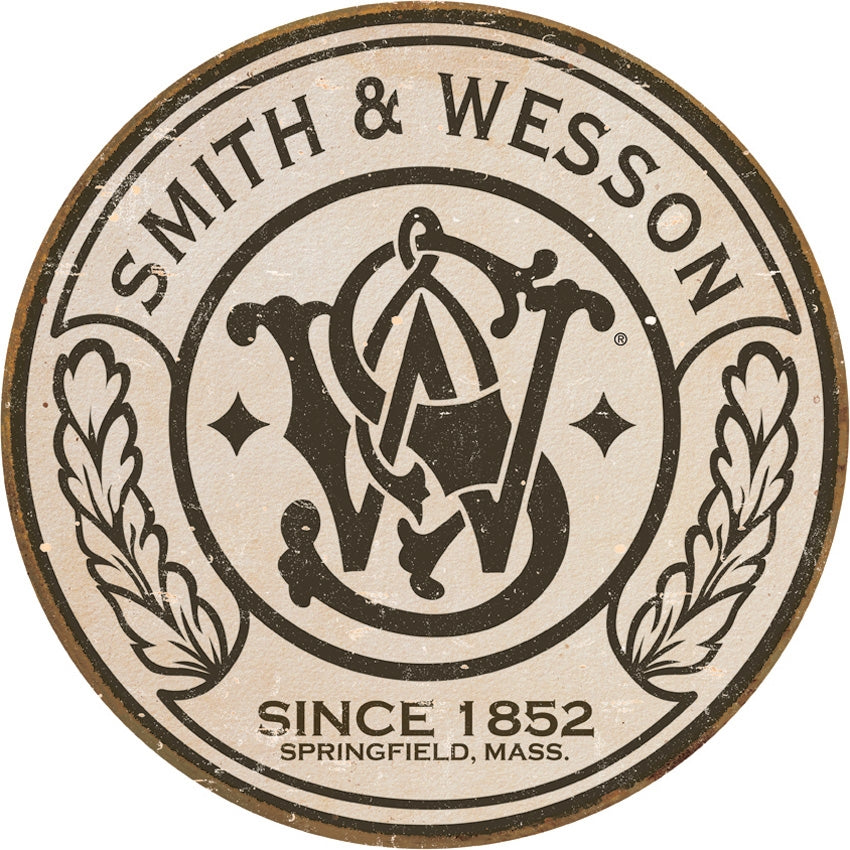 S&W Round Logo Tin Sign
