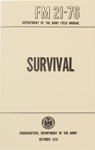 Survival FM 21-76 Book - US Army
