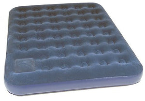 World Famous Air Bed with Pump Queen - Blue
