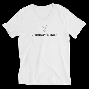OFFICIALLY BIONIC Short-Sleeve, Unisex V-Neck T-Shirt