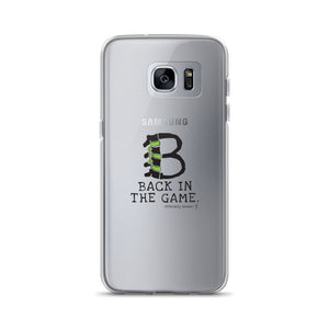 BACK IN THE GAME Samsung Case (for lighter-colored phones)