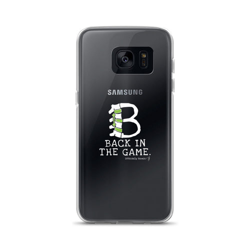 BACK IN THE GAME Samsung Case (for darker-colored phones)
