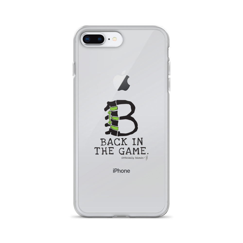 BACK IN THE GAME iPhone Case (for lighter-colored phones)