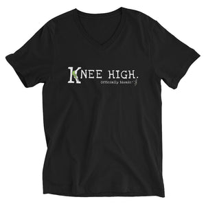 KNEE HIGH Short-Sleeve, Unisex V-Neck T-Shirt