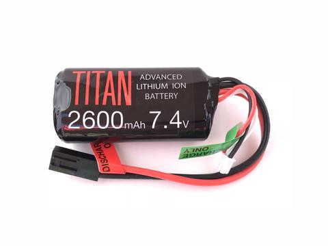 Titan Power 7.4v Lithium Ion Airsoft Brick Type - Tamiya Connector - 2600mah - airsoftgateway.com
