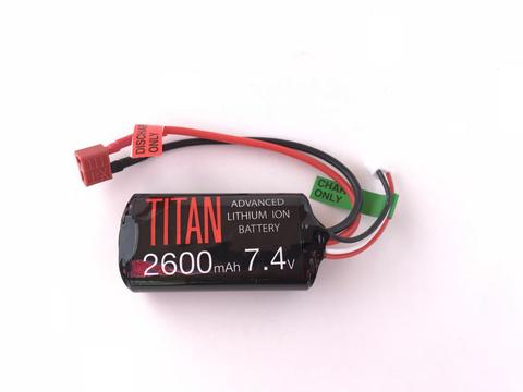 Titan Power 7.4v Lithium Ion Airsoft Brick Type - Dean Connector - 2600mah - airsoftgateway.com
