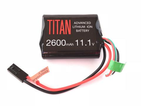 Titan Power 11.1v Lithium Ion Airsoft Brick Type - Tamiya Connector - 2600mah - airsoftgateway.com