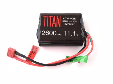 Titan Power 11.1v Lithium Ion Airsoft Brick Type - Dean Connector - 2600mah - airsoftgateway.com