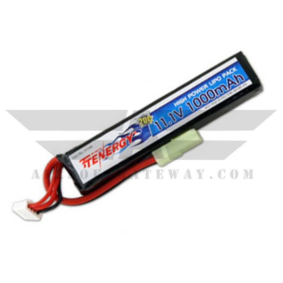 Tenergy 11.1v 1000mAH Lipo Stick Batteries -Ai3