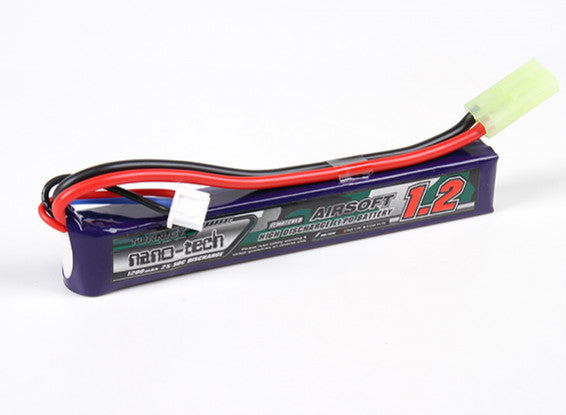 Turnigy Nano-Tech 7.4v 25c 1200mAh Lipo - Mini Tamiya - Stick Type - airsoftgateway.com