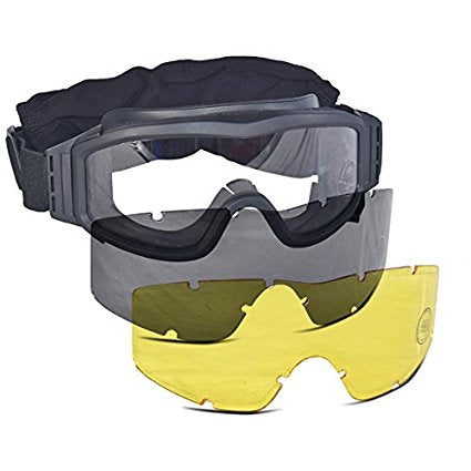 Lancer Tactical Airsoft Safety Goggle BLACK - airsoftgateway.com