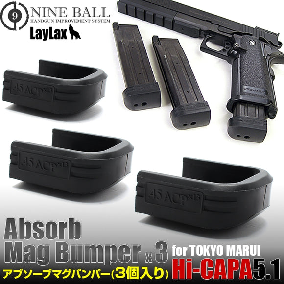 Nineball Absorb Magazine Bumpers for Tokyo Marui 5.1 - 3 pack - airsoftgateway.com