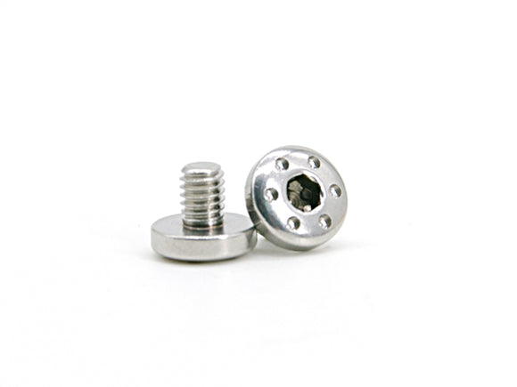 AIP CNC Stainless Steel Grip Screws For TM Hi-CAPA - Type 2 - Silver - airsoftgateway.com