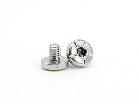 AIP CNC Stainless Steel Grip Screws For TM Hi-CAPA - Type 3 - Silver - airsoftgateway.com