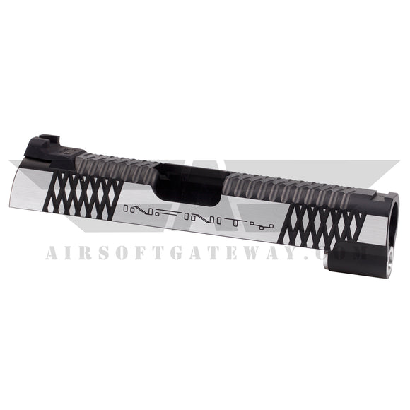 Airsoft Masterpiece 4.3 Infinity Slide with Rear Sight - 2Tone Black/Silver - airsoftgateway.com