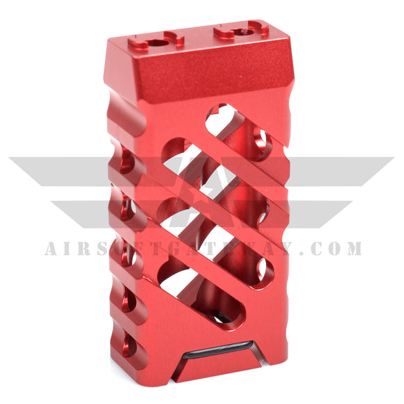 AirStrike AEG Type C M-Lok Vertical Fore Grip - Red - airsoftgateway.com