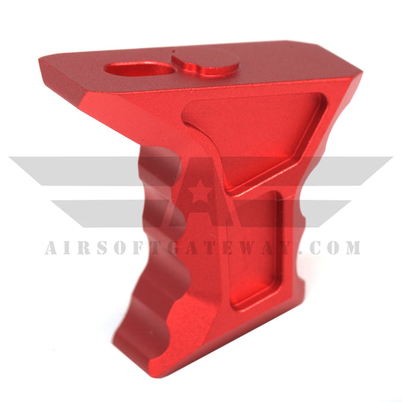 AirStrike AEG Type S Keymod Angled Fore Grip - Red - airsoftgateway.com