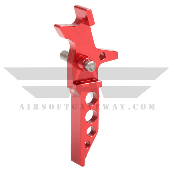 Airsoft M4 AEG CNC Type 1/B Trigger - Red - airsoftgateway.com