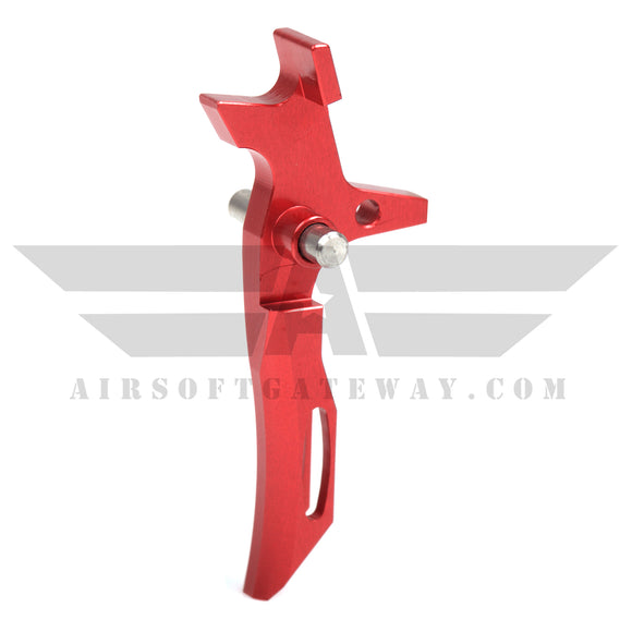 Airsoft M4 AEG CNC Type 2 Trigger - Red - airsoftgateway.com