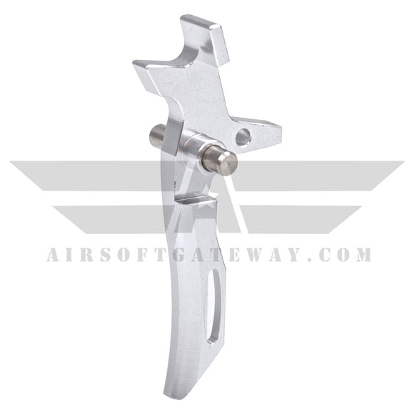 Airsoft M4 AEG CNC Type 2 Trigger - Silver - airsoftgateway.com