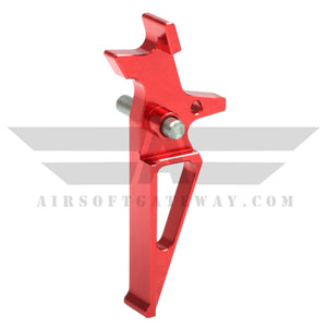 Airsoft M4 AEG CNC Type 3 Trigger - Red - airsoftgateway.com