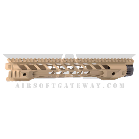 Airsoft M4 AEG Type F Keymod 14 inch Rail Hand Guard - Tan - airsoftgateway.com