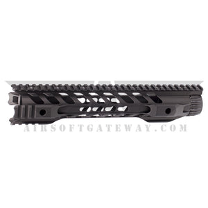 Airsoft M4 AEG Type F Keymod 12 inch Rail Hand Guard - Black - airsoftgateway.com