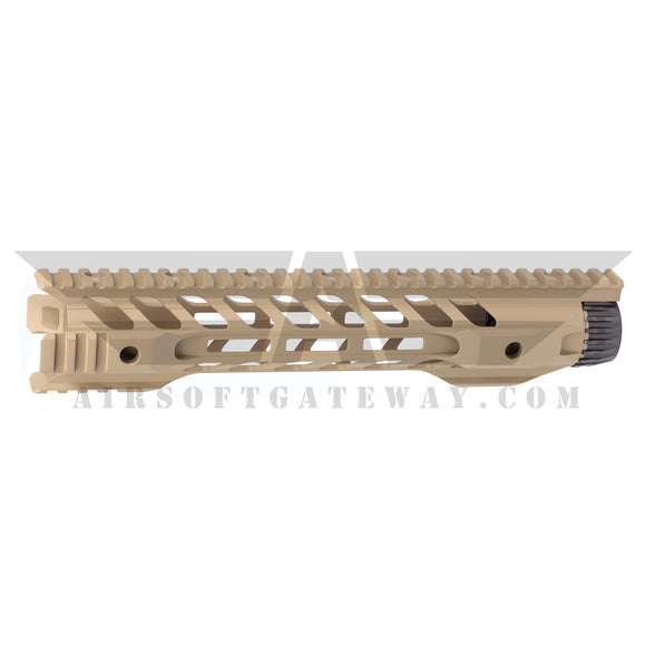 Airsoft M4 AEG Type F Keymod 12 inch Rail Hand Guard - Tan - airsoftgateway.com