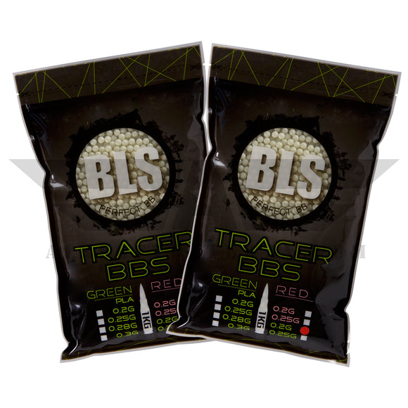 BLS Tracer Precision BBs 5.95mm +- .01mm - .20g - 10000 Total Count - GREEN - (2 Pack) - airsoftgateway.com