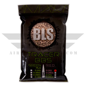 BLS Tracer Precision BBs 5.95mm +- .01mm - .20g - 5000 Count - RED - airsoftgateway.com