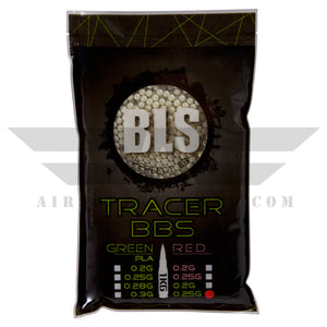 BLS Tracer Precision BBs 5.95mm +- .01mm - .25g - 4000 Count - GREEN - airsoftgateway.com
