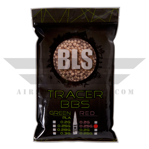 BLS Tracer Precision BBs 5.95mm +- .01mm - .25g - 4000 Count - RED - airsoftgateway.com