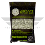 BLS Tracer Precision BBs 5.95mm +- .01mm - .28g - 3600 Count - GREEN - airsoftgateway.com