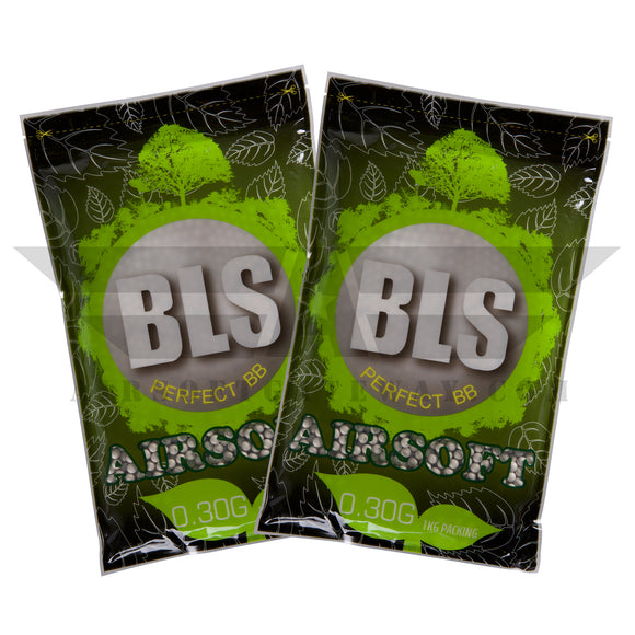 BLS Biodegradable BBs 5.95mm +- .01mm - .30g - 6600 Count - (2 pack) - airsoftgateway.com