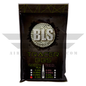 BLS Tracer Precision BBs 5.95mm +- .01mm - .30g - 3300 Count - GREEN - airsoftgateway.com