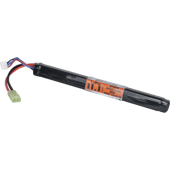 Valken Airsoft Battery - LiPo 11.1v 1200mAh 30c Long Stick Style - Mini Tamiya
