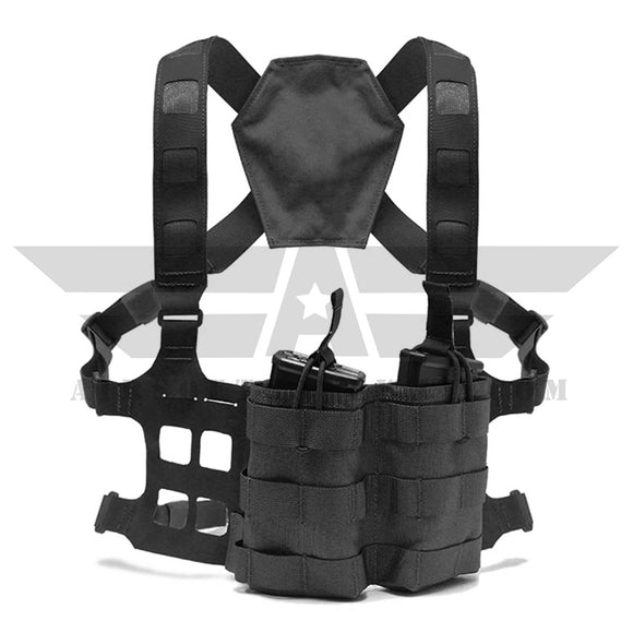 Laylax Light Weight Chest Rig - Black - airsoftgateway.com
