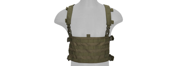 Lancer Tactical QD Chest Rig W/ Backpack - Olive Drab -X20 - airsoftgateway.com