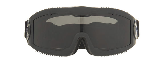 Lancer Tactical Aero Protective Black Airsoft Goggle W/ Smoke/Yellow/Clear Lenses - Black - airsoftgateway.com
