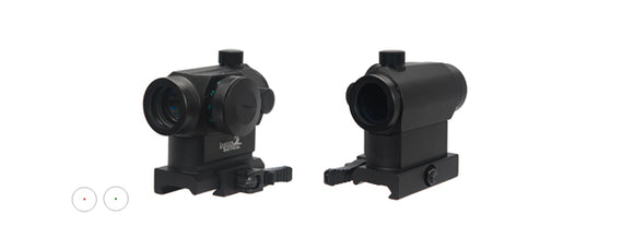 Lancer Tactical Mini Red & Green Dot Sight w/ Quick Release Mount - Black - airsoftgateway.com
