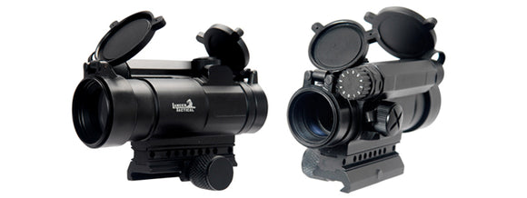 Lancer Tactical CA-419B Red & Green Dot Scope - Black - airsoftgateway.com