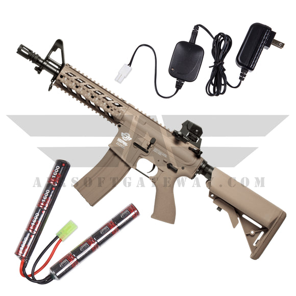 G&G CM16 Raider Combo - 9.6v Nunchuck Battery & Charger - Desert Tan - airsoftgateway.com