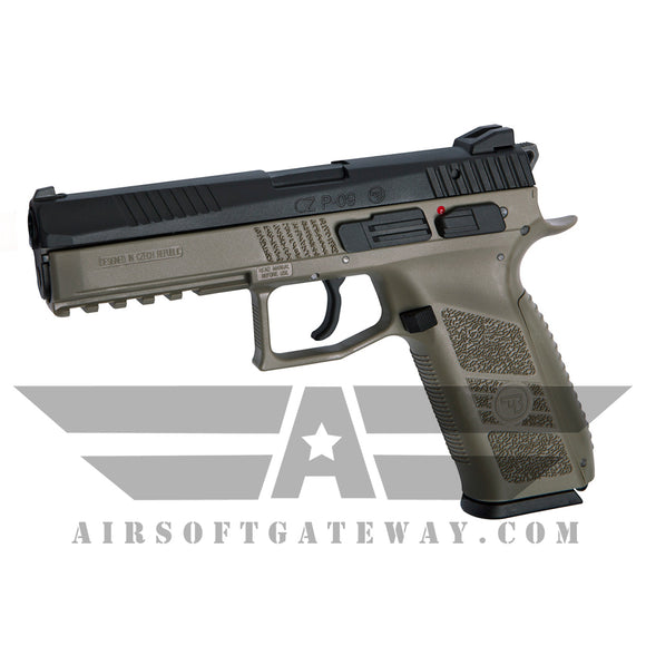ASG CZ P-09 CO2 Airsoft Pistol - Black/Tan - airsoftgateway.com