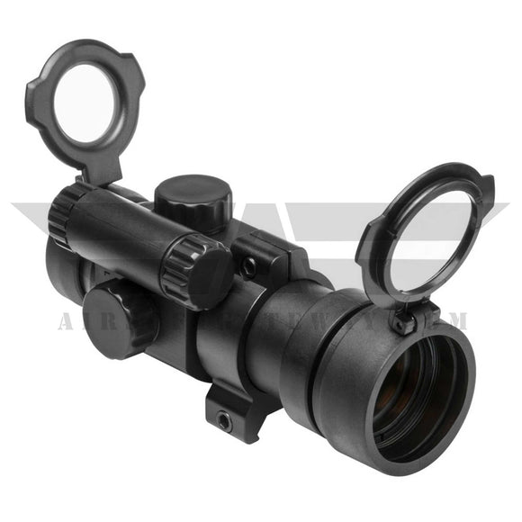 NcSTAR DP130 1X30 Red Dot Sight / Weaver Ring / Pop Lens Cap - airsoftgateway.com