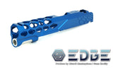 "EDGE Custom ""SHIELD"" Aluminum Standard Slide for Hi-CAPA/1911 - Blue"