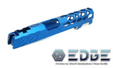 "EDGE Custom ""SHIELD"" Aluminum Standard Slide for Hi-CAPA/1911 - Blue - airsoftgateway.com"