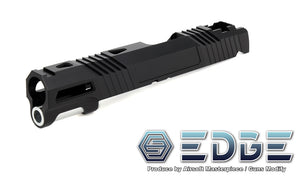 "EDGE Custom ""Aqua"" Aluminum Standard Slide for Hi-CAPA/1911 - Black - airsoftgateway.com"