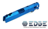 "EDGE Custom ""Aqua"" Aluminum Standard Slide for Hi-CAPA/1911 - Blue - airsoftgateway.com"