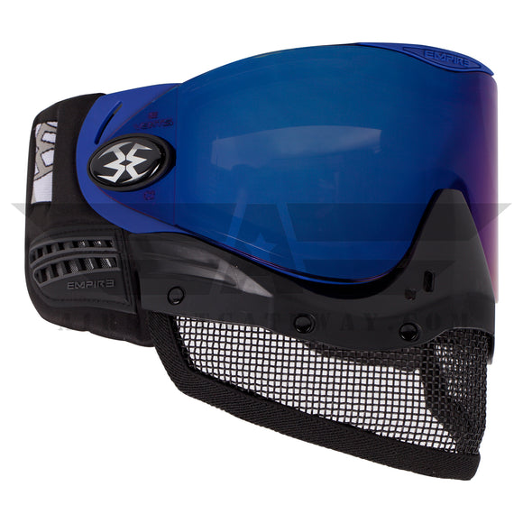 Tippmann Tactical Empire E-Mesh Airsoft Goggle System - Blue - Thermal Mirror Blue - airsoftgateway.com